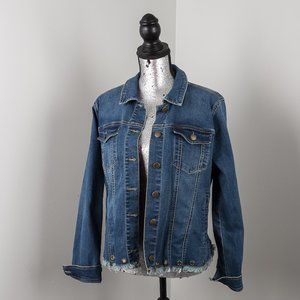 NWOT Max jeans jean jacket - L